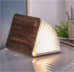 Gingko Smart Booklight bordlampe i valnød - KoZmo Design Store