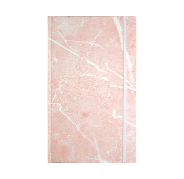 Paper on the Rocks Marble notesbog I pink med stenpapir - KoZmo Design Store