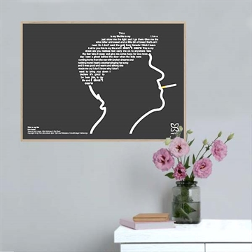 Kim Larsen 'This is my life' plakat - KoZmo Design Store